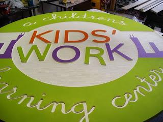 placas para crianças