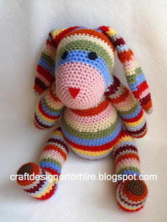 Free Crochet Striped Rabbit Pattern for Easter