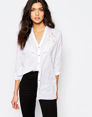 Cutwork shirt, $48.53 from River Island