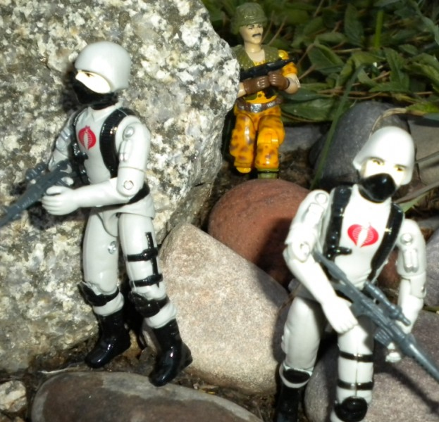 1986 Claymore, Mission to Brazil, Toys R Us Exlcusive, Bootleg Stinger Troopers, Black Major, Rare G.I. Joe Figures