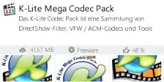 Free Download K-Lite Codec Pack 11.96 latest