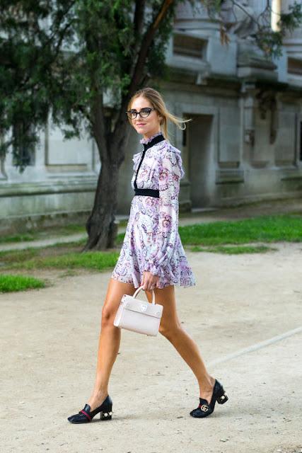 Chiara Ferragni in Gucci shoes