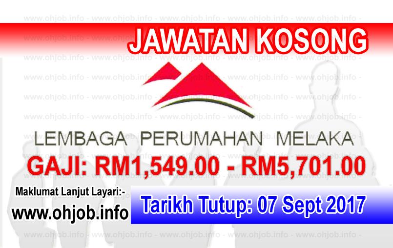 Jawatan Kerja Kosong Lembaga Perumahan Melaka - LPNM logo www.ohjob.info september 2017