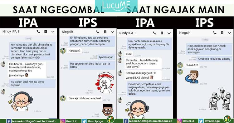 10 Meme Chat Anak Ipa Vs Anak Ips Ini Kocaknya Bikin Ingat Masa