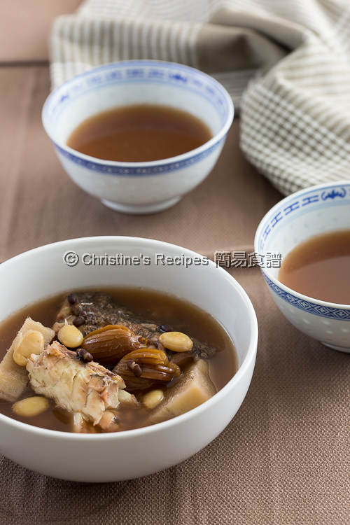 粉葛赤小豆牛鰍魚湯 Kudzu Root, Adzuki Bean and Flathead Fish Soup03