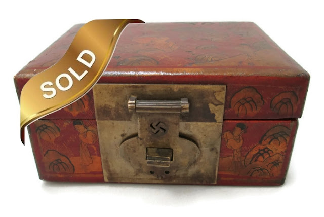 Leather Covered Antique Chinese Box