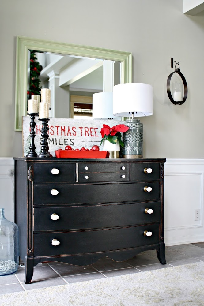 black dresser foyer