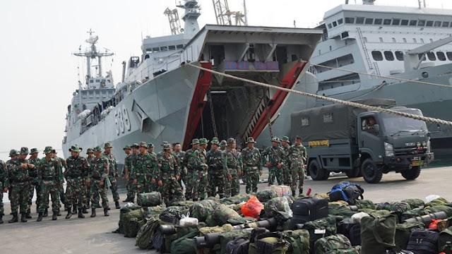 KRI Teluk Parigi 539 Meluncur ke Lombok, Bergabung Dengan Pasukan Reaksi Cepat Penanggulangan Bencana