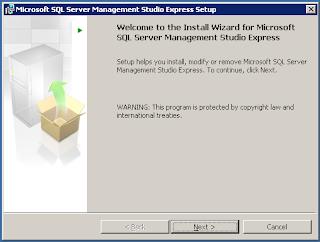Step by step Installasi SQL Server 2005 Management Studio
