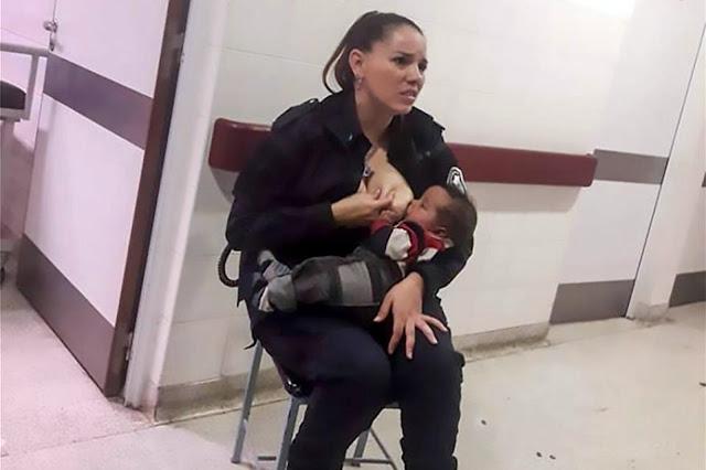 Αστυνομικός θήλασε εγκαταλελειμμένο μωρό