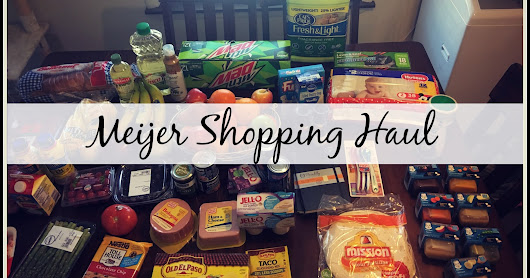 Meijer Shopping Haul | Video |