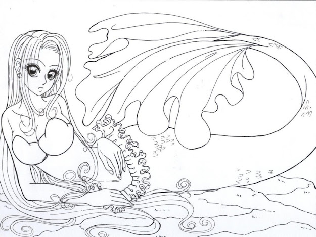 Best Hard Mermaid Coloring Pages For Adults Free