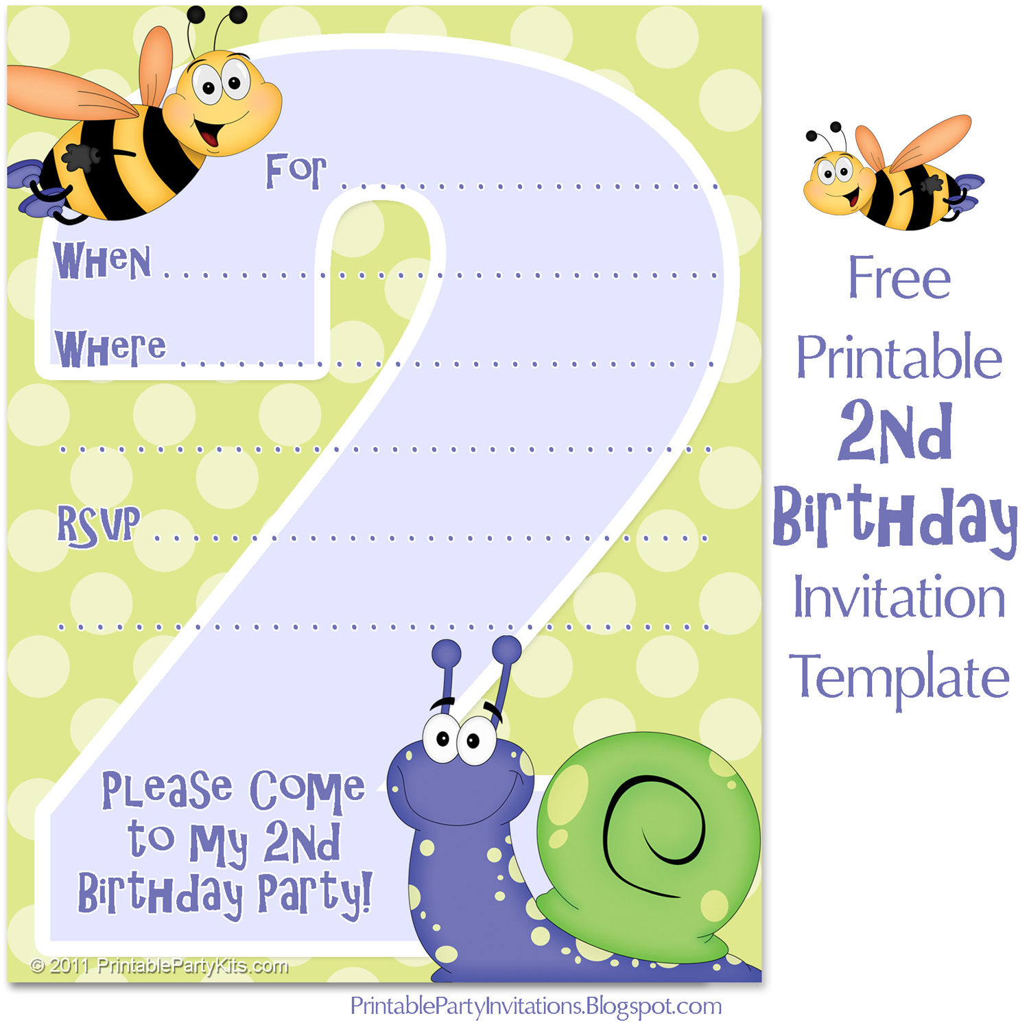 invitation template for a 2nd birthday