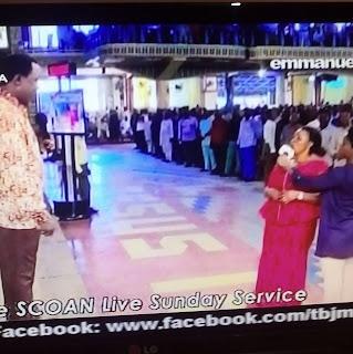 Drama As Prophet T.B Joshua Disgraces a Penis Grabber in Church