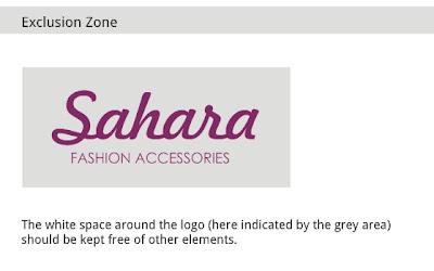 exclusion zone around logo