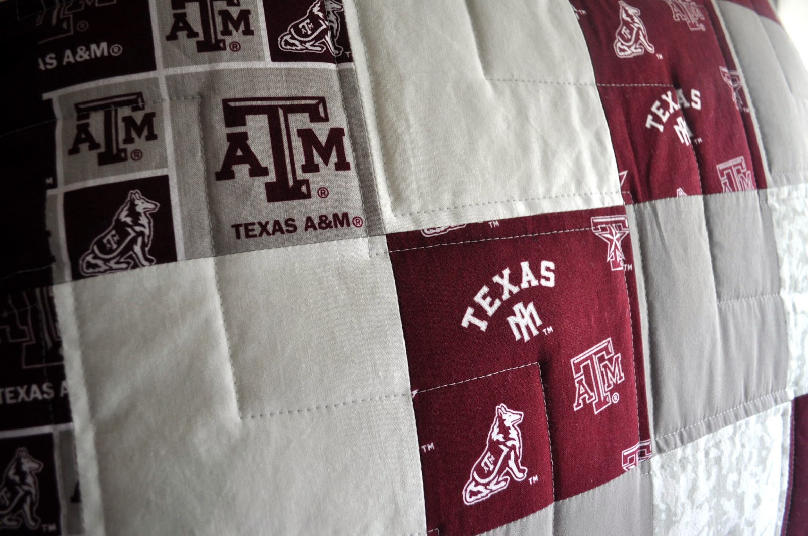 The katy rose quilted texas a m pillow for Ikea katy texas