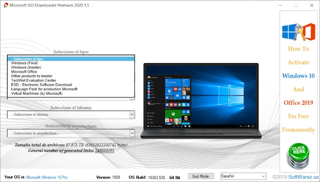 Microsoft ISO Downloader Premium 2020 Full