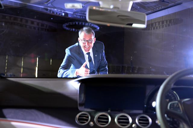 Michael Jopp, VP Sales and Marketing, Mercedes-Benz India unveiling the new E-Class at Hyatt Regency Chandigarh (1)