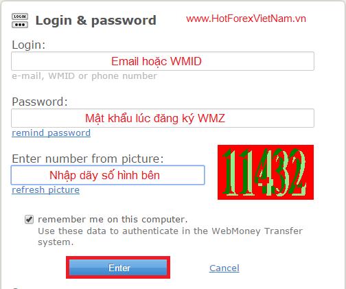 Login Webmoney WMZ