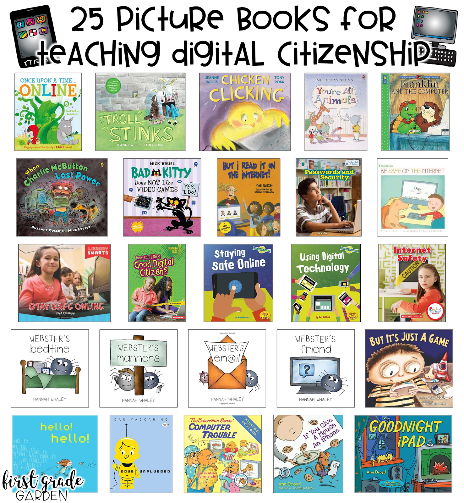 First Grade Garden 25 Picture Books For Teaching Digital