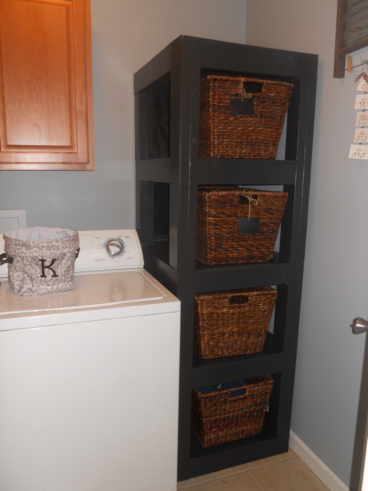 Laundry Basket With Shelves My Adventures In Treasure Hunting Diy Laundry Basket Shelf
