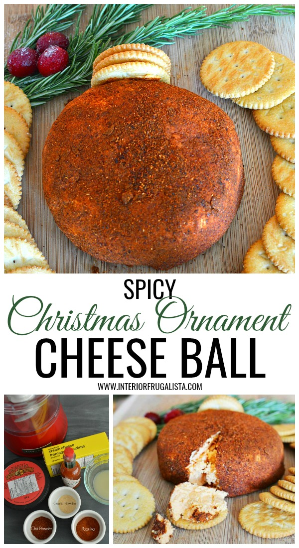 Spicy Christmas Ornament Cheese Ball Favorite