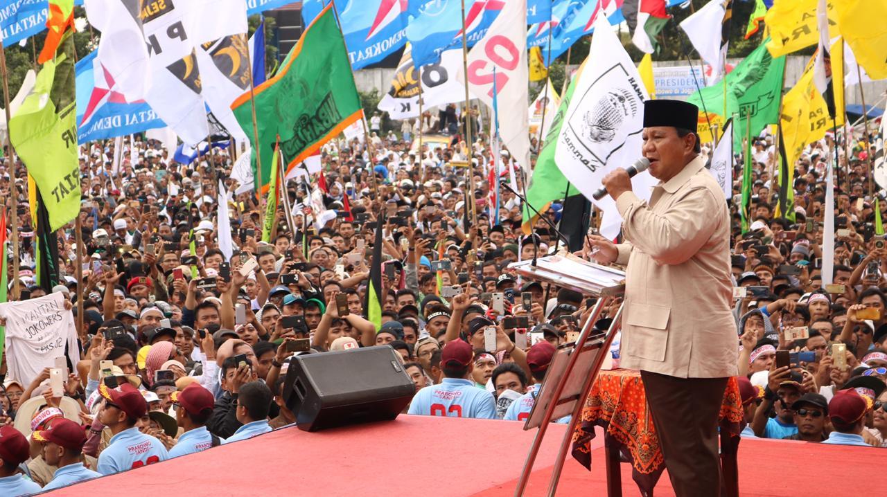 Meski Dihalangi, Begini Penampakkan Massa Kampanye 02 Yogyakarta