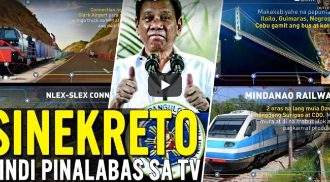Mapapa Wow Ka! Sa Ganda Ng Mga Proyekto Ni Pres. Duterte Na Hindi Pinalabas Sa Television