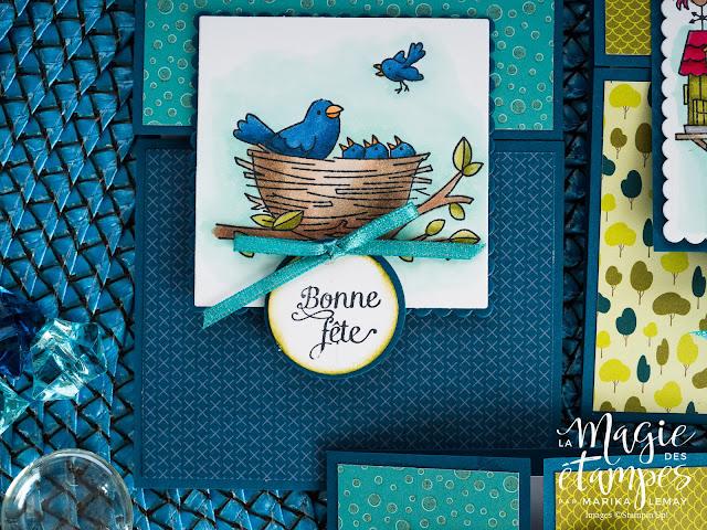 Carte d'anniversaire Stampin'Up! créée avec le jeu d'étampes Flying Home