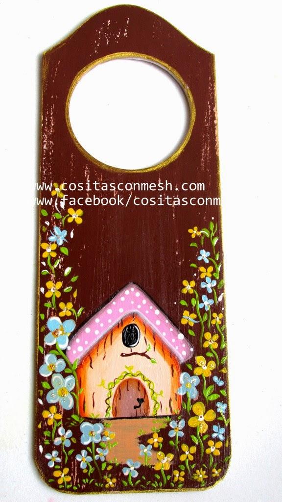 Pintura decorativa en madera picaporte diy paso a paso - Manualidades de madera paso a paso ...