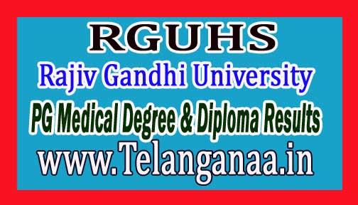 RGUHS PG Medical Degree & Diploma Results Nov-2016