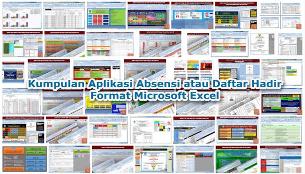 Kumpulan Aplikasi Absensi atau Daftar Hadir Format Microsoft Excel