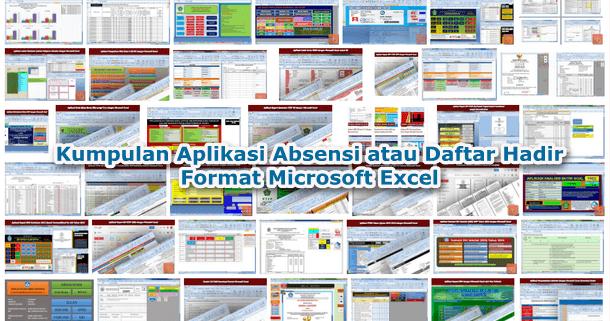 Kumpulan Aplikasi Absensi atau Daftar Hadir Format Microsoft