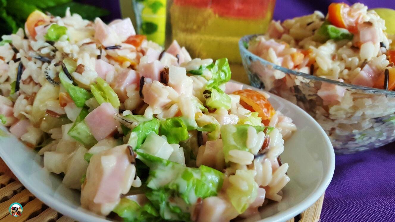 Ensalada de arroz con pi a huele bien - Ensalada de arroz light ...