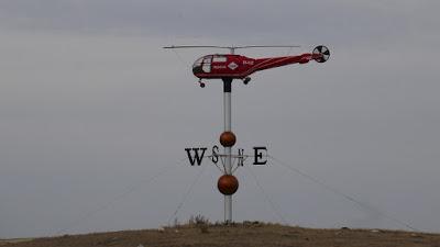helicopter, Swift Current, Saskatchewan, weather vane