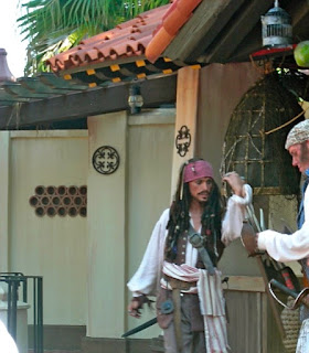 Captain Jack Sparrow at the Magic Kingdom