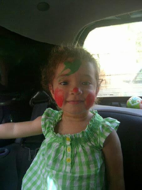 Hija Sophia pintada la cara