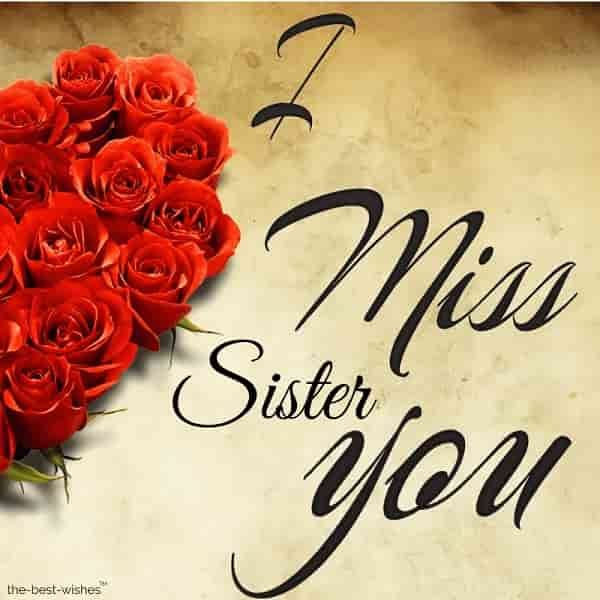 good morning sister i miss you