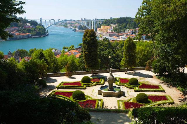 Jardins do Palácio de Cristal no Porto