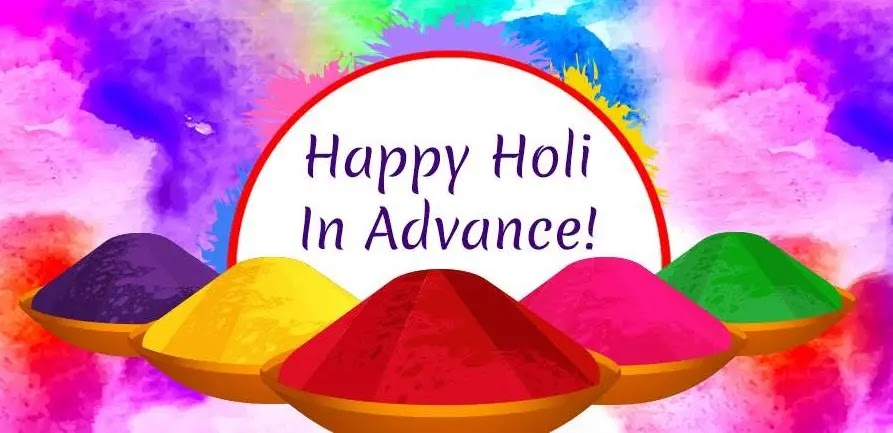 happy holi in advance 2019 image