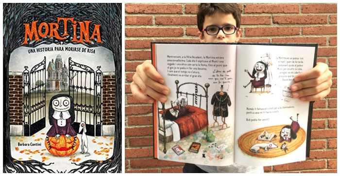 Libro infantil niños halloween Mortina primeros lectores