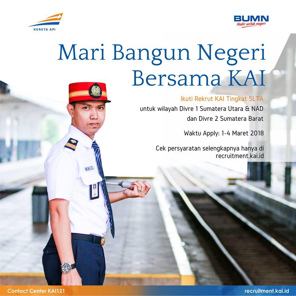Rekrutmen Pt Kereta Api Indonesia Kai Tingkat Slta Terbaru Tahun