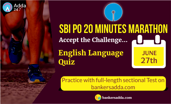 SBI Clerk 20 Minutes Marathon | English Language Sectional Test: 27th June 2018