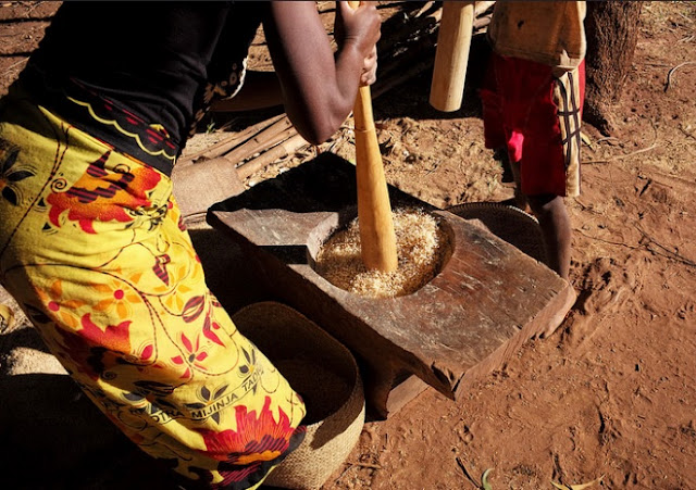Making a meal in Africa