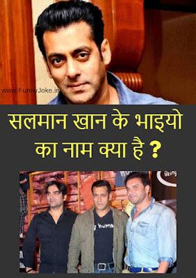 Salman Khan brother Name