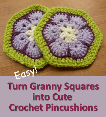 African flower crochet pincushion tutorial