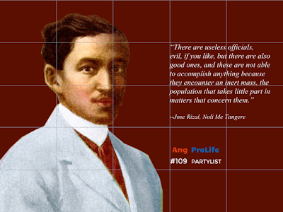 Jose Rizal on the inert masses of the country