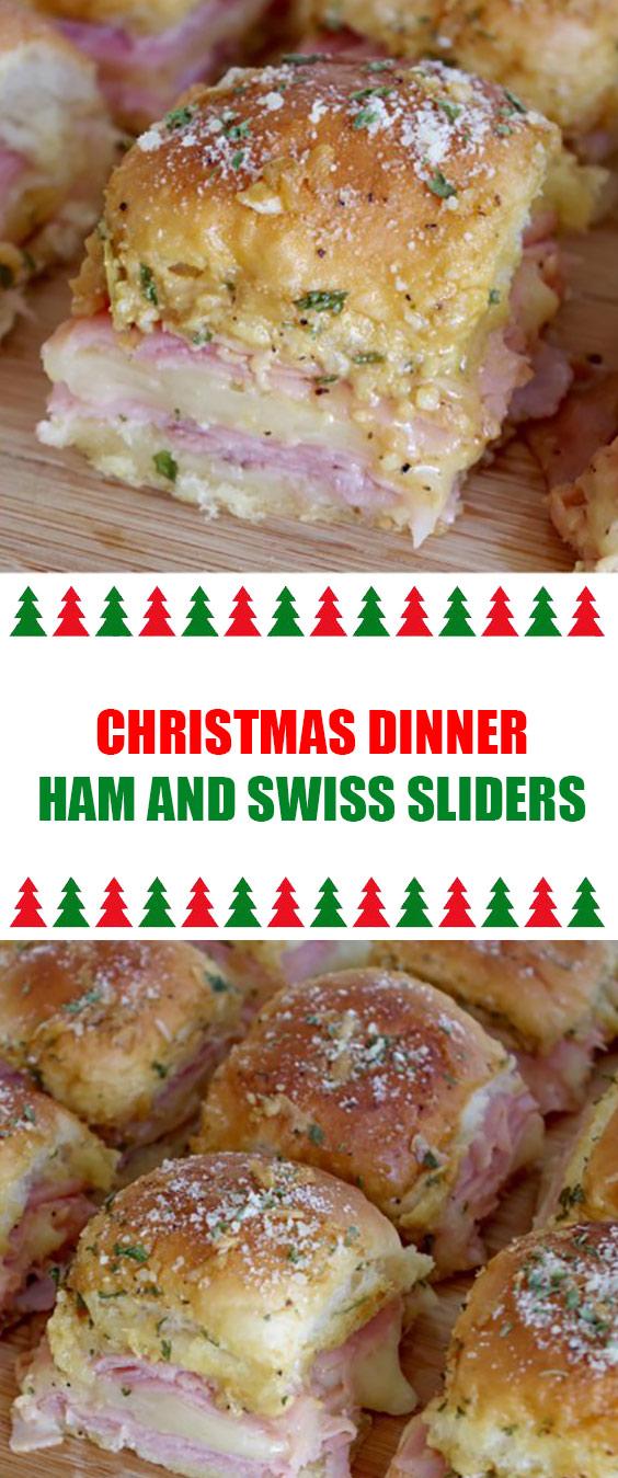 Christmas Dinner Ham and Swiss Sliders