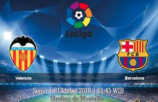 Prediksi Valencia vs Barcelona 8 Oktober 2018