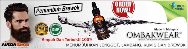 New Ombak Beard Oil Penumbuh Jenggot, Jambang, Kumis, Brewok Serta Bulu Dada 100% Ampuh dan Terbukti